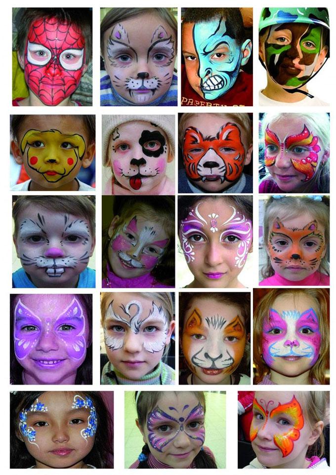 Аквагрим для детей своими руками идеи рисунков 9