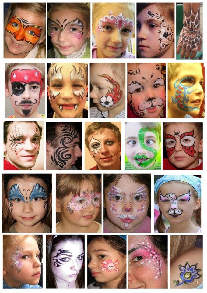 Аквагрим для детей своими руками идеи рисунков 29
